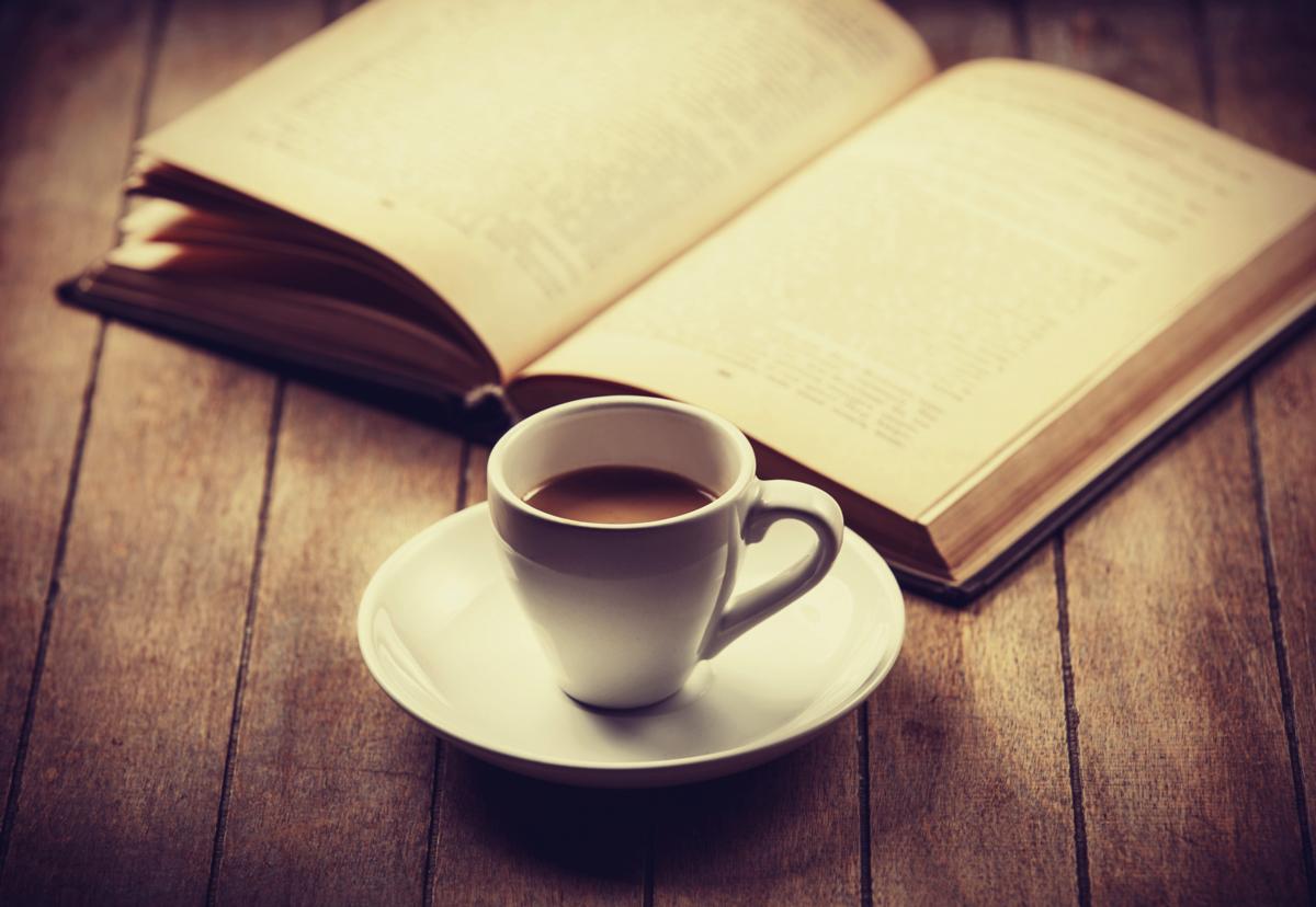 Café con libro.