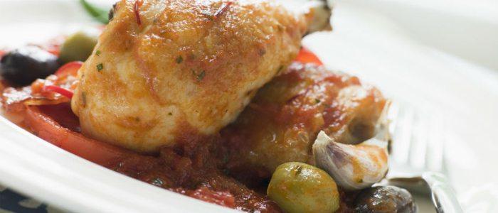 Pollo al chilindrón.