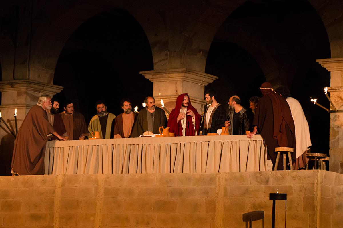 La última cena se celebra en el pueblo el Jueves Santo. Foto: Asociación Vía Crucis Balmaseda.