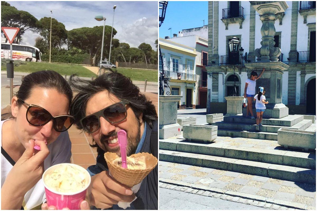 La cantante Niña Pastori disfrutando en familia del Puerto de Santa María. Fotos: Facebook.