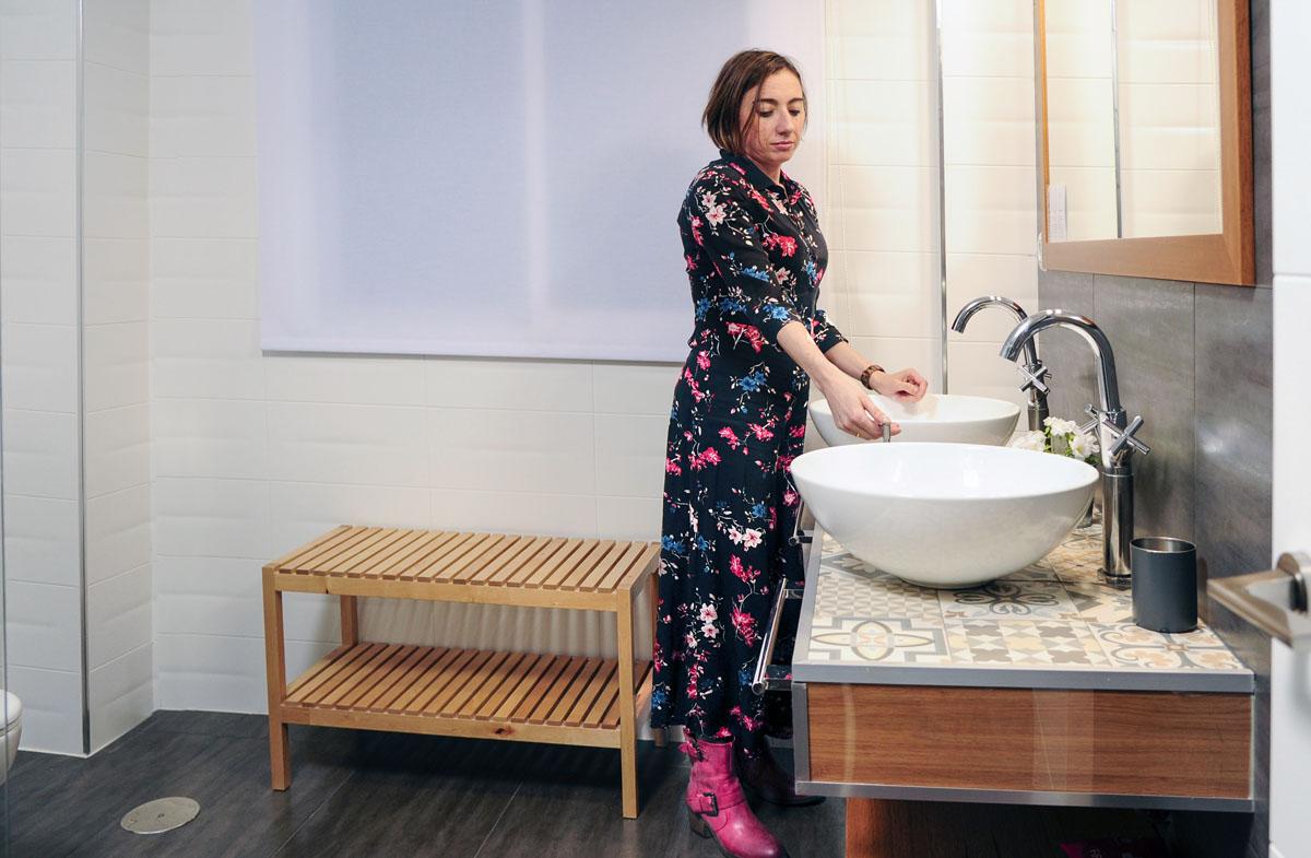 También en el baño, todo está pensado hasta el mínimo detalle.