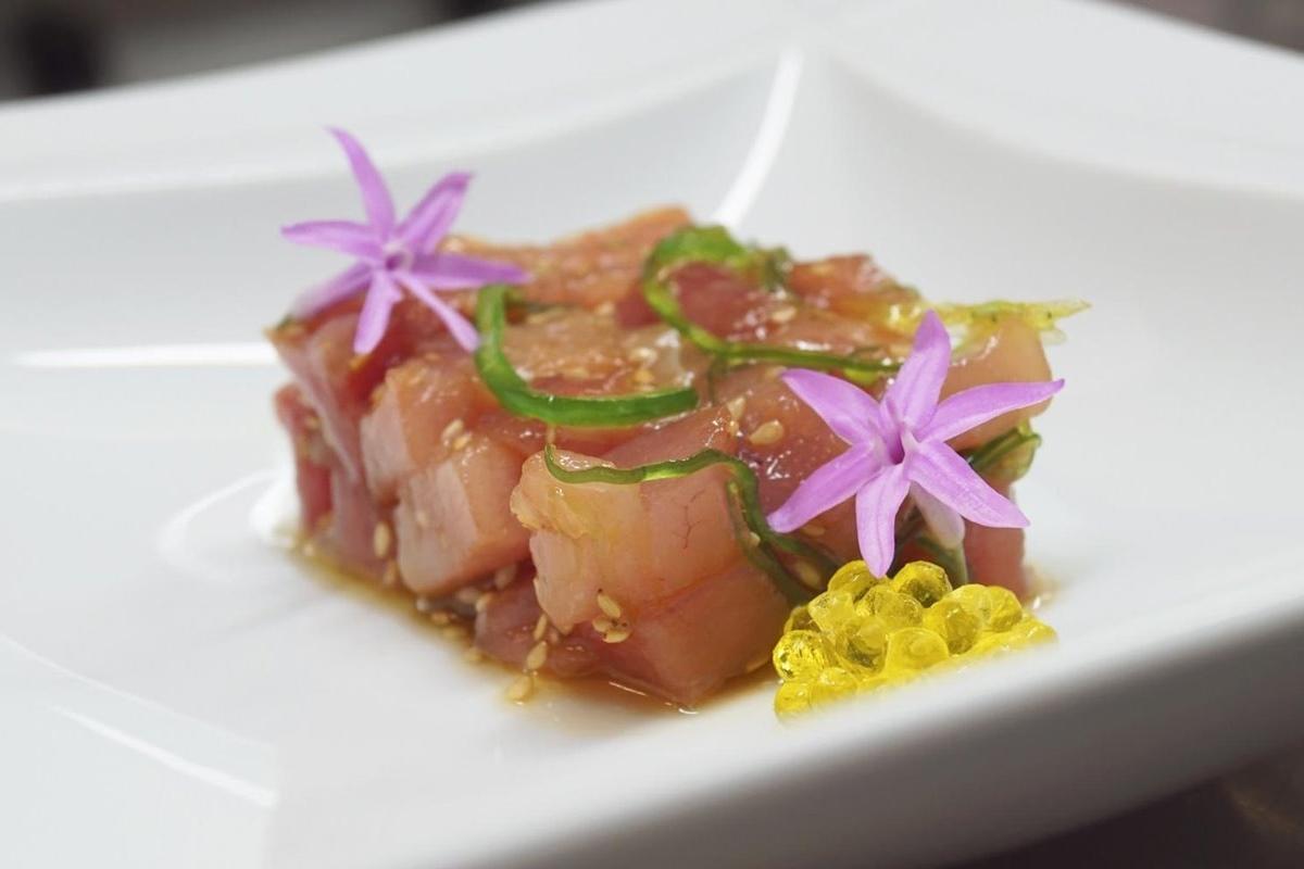 Tartar de bonito del Fagollaga, lugar de celebraciones de Fernando Canales. Foto: Fagollaga.