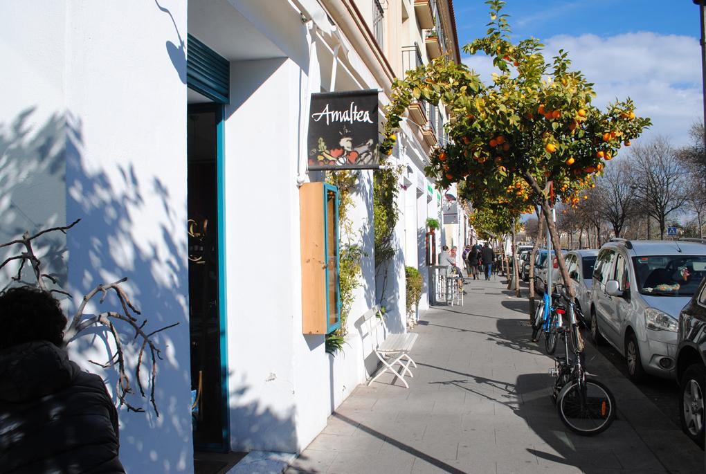 Fachada Restaurante Amaltea. Foto: Mamadú Dabó.