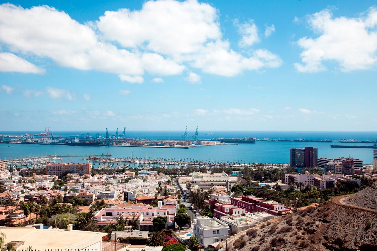 Las Palmas de Gran Canaria desde arriba.