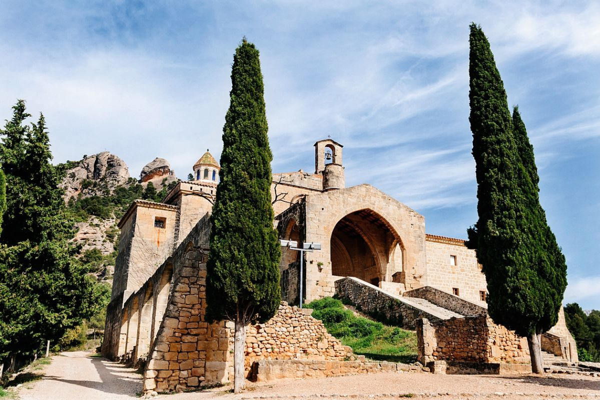 Monasterio templario Sant Salvador, en Horta de Sant Joan, Tarragona. Foto: Flaminia Pelazzi
