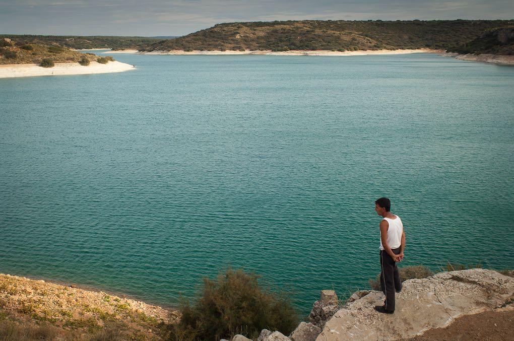 El embalse de Peñarroya es la primera barrera artificial del río durante su curso.