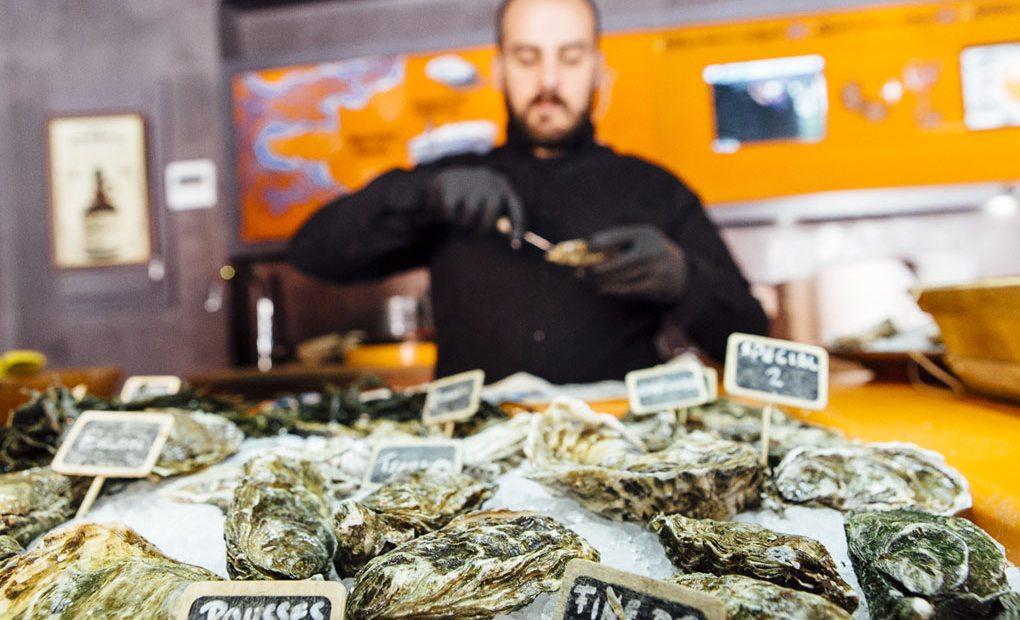 Restaurante Gouthier: ostras en el barrio de Sarrià.