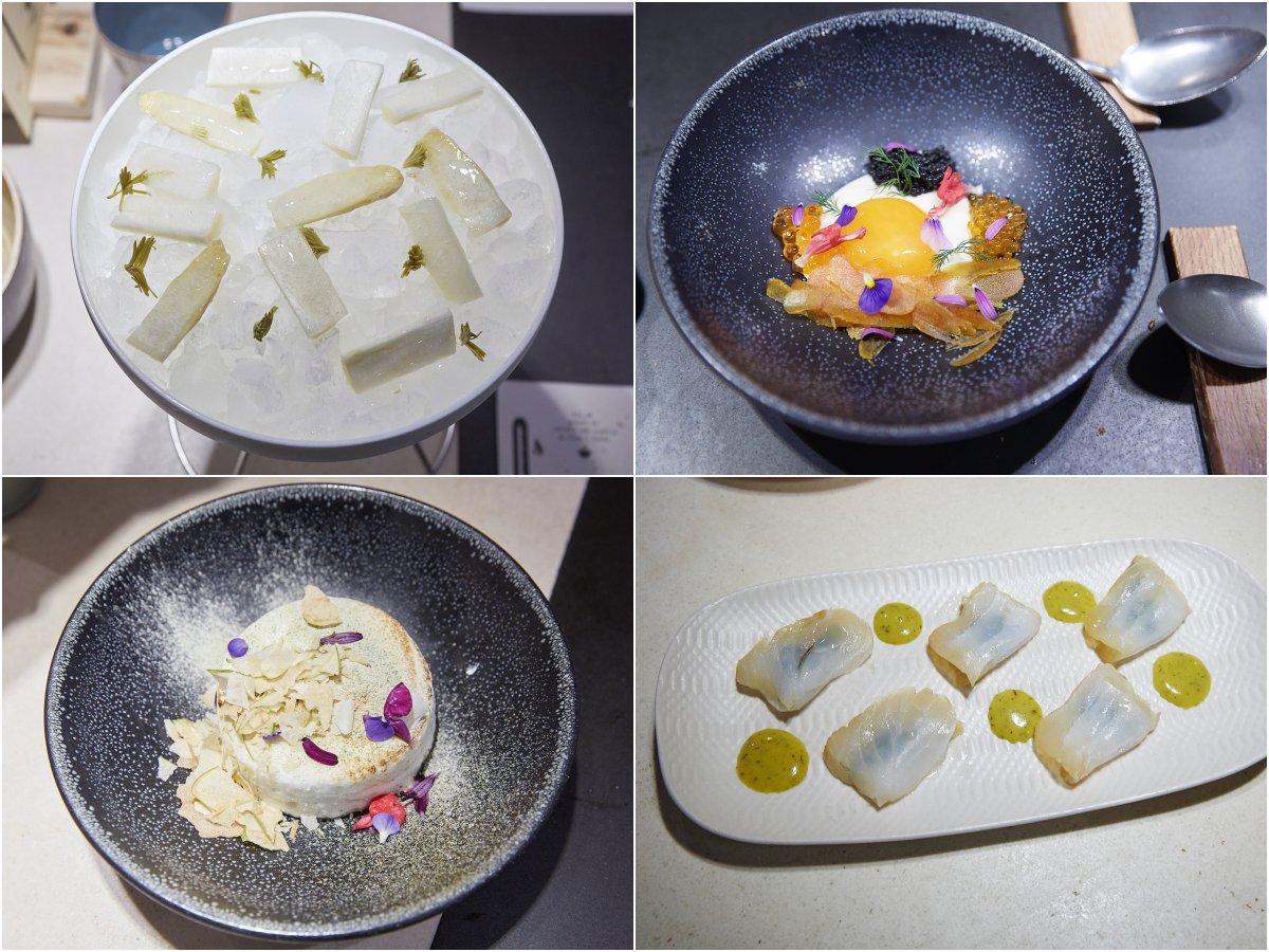 Algunas de las creaciones culinarias que se ofrecen en el restaurante 'Hetta'.