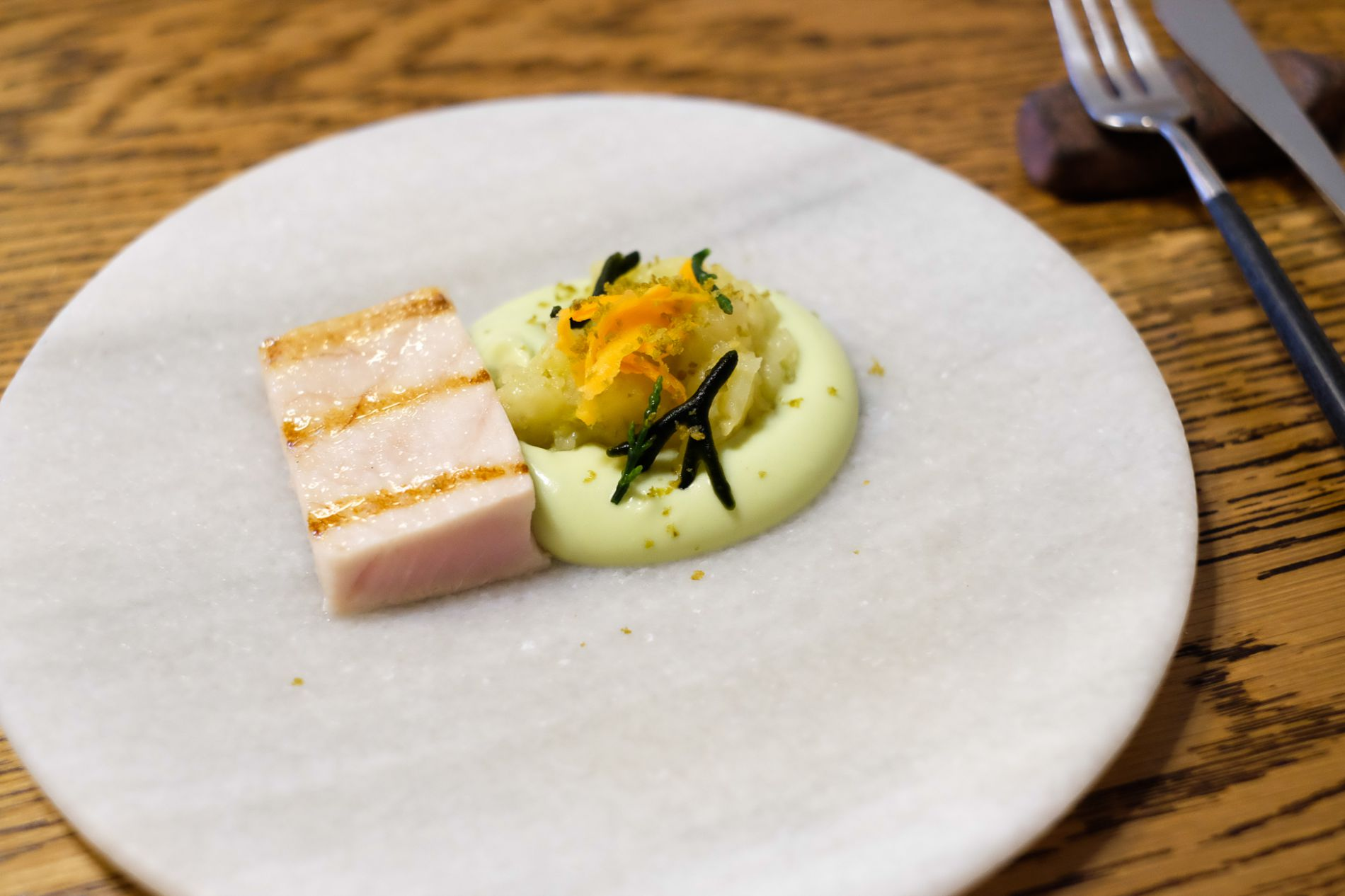 Restaurante 'Maruja Limón': bonito con mayonesa de pimientos de Padrón