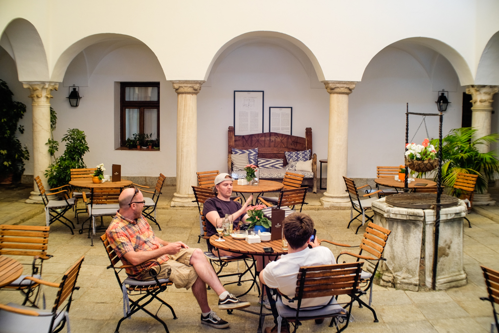 El patio interior del Parador era el antiguo claustro del convento del siglo XVIII.