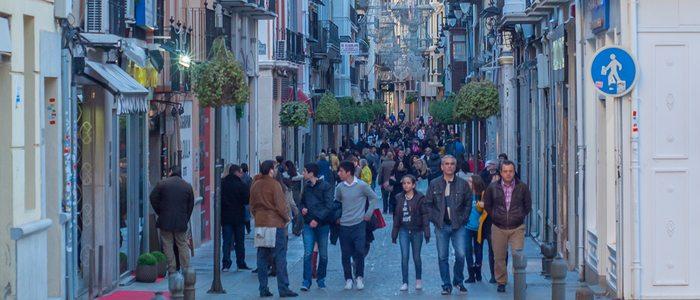 Calle Mesones, Granada. Foto: CC Flickr José Castillo.