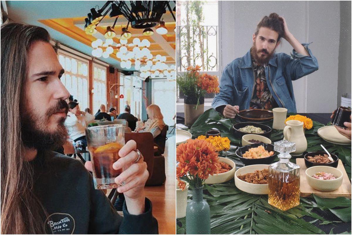 El artista frecuenta los locales vegetarianos de Barcelona. Fotos: Instagram.