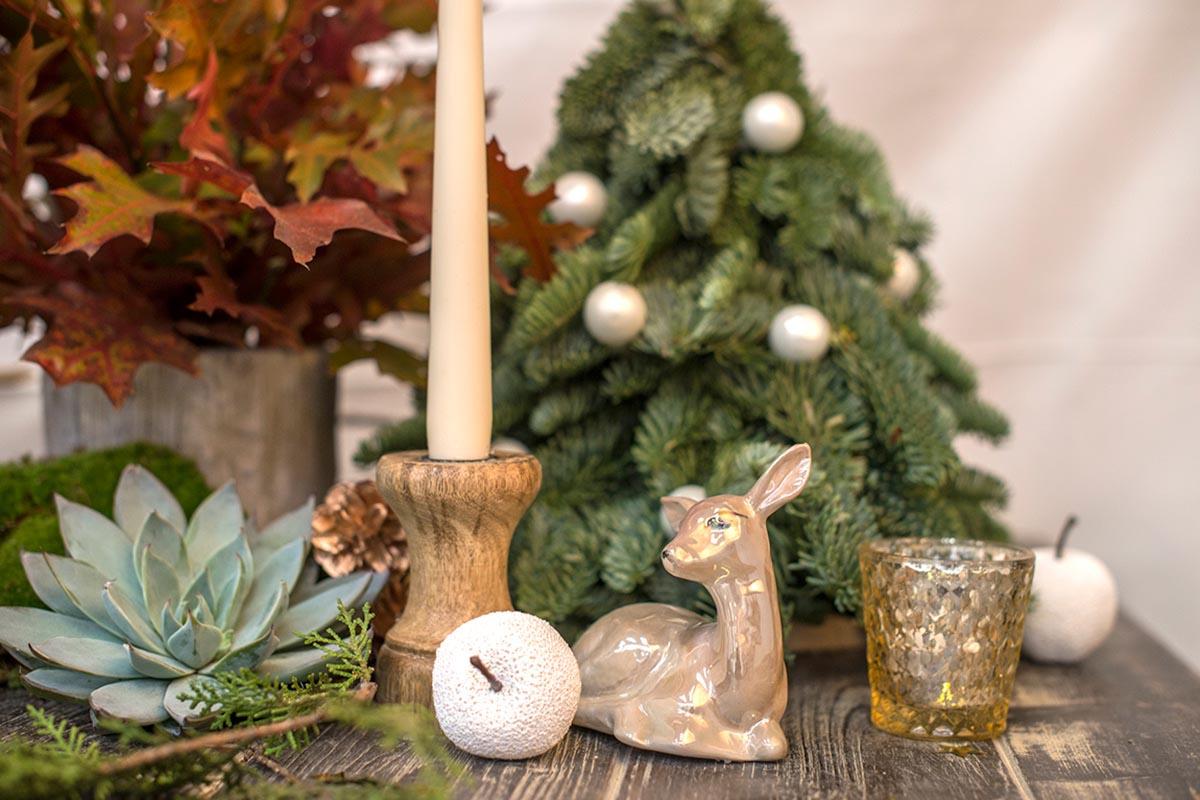 Bambi dorado centro navidad