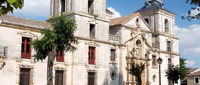 Fachada del palacio de Goyeneche, en Nuevo Baztán.