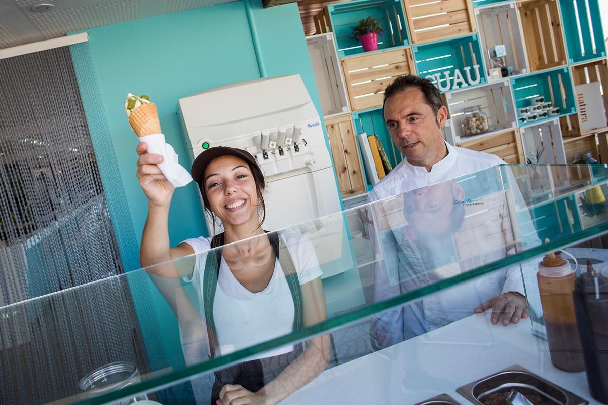 La novedad de este verano de Manuel Alonso: su heladería 'Suau'.