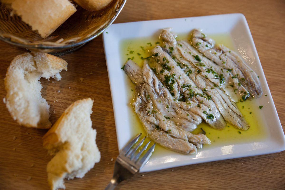 Las sardinas marinadas, más que recomendables.