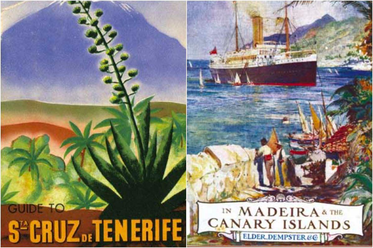 Guía de 1934 y libro de Vevey Webster de 1890. Foto: Fundación Canaria Orotava Historia de la Ciencia.