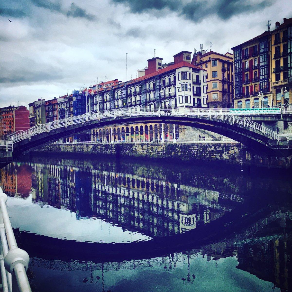 Selfie de Roberto Ranero. Puente de la Rivera (Bilbao)
