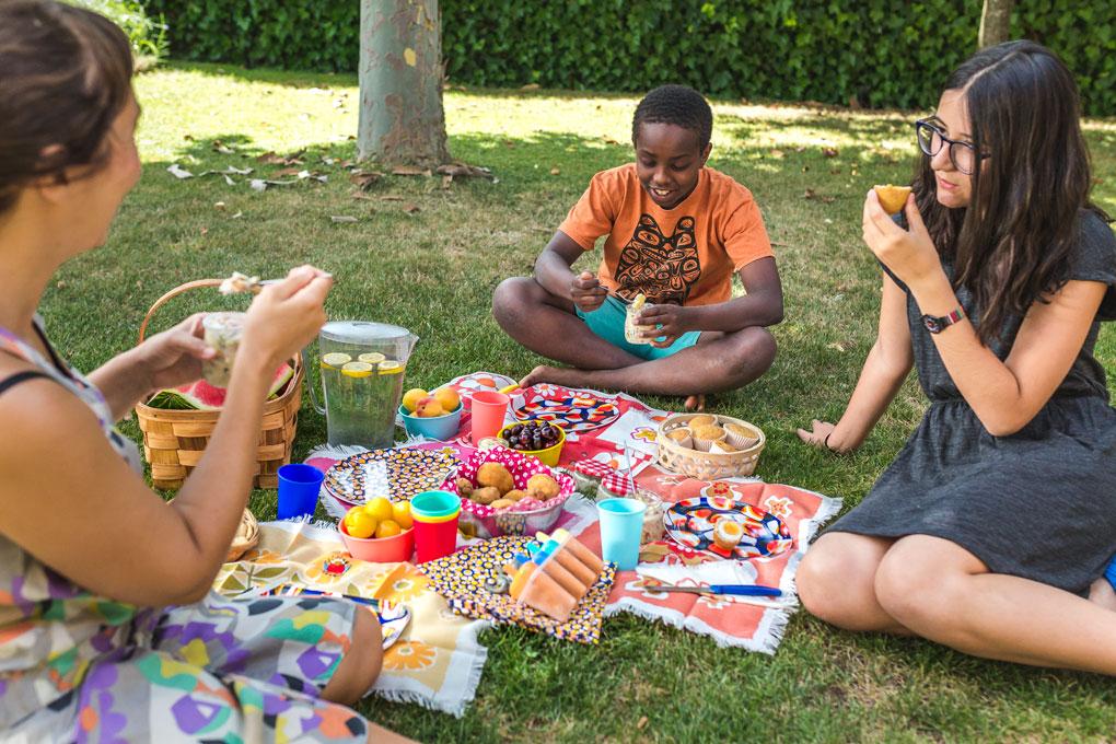 Disfrutando del picnic.