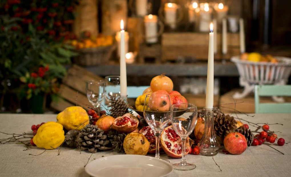 Mesas De Navidad Decoracion Con Frutas Y Naturaleza Guia Repsol - Centros-de-mesa-de-frutas
