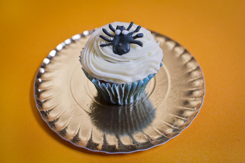 Cupcake de araña.