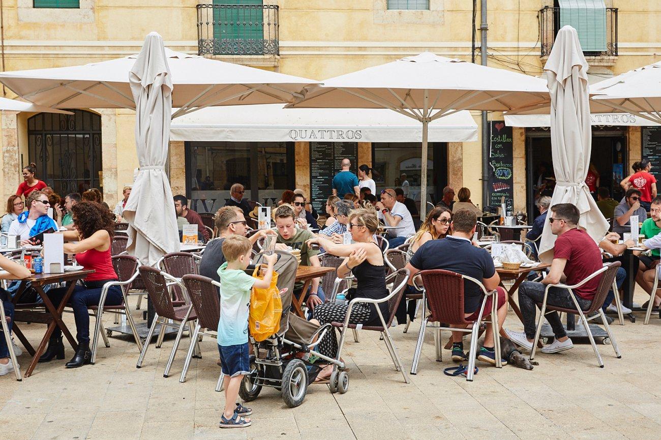Restaurante 'Quattros'. Terraza
