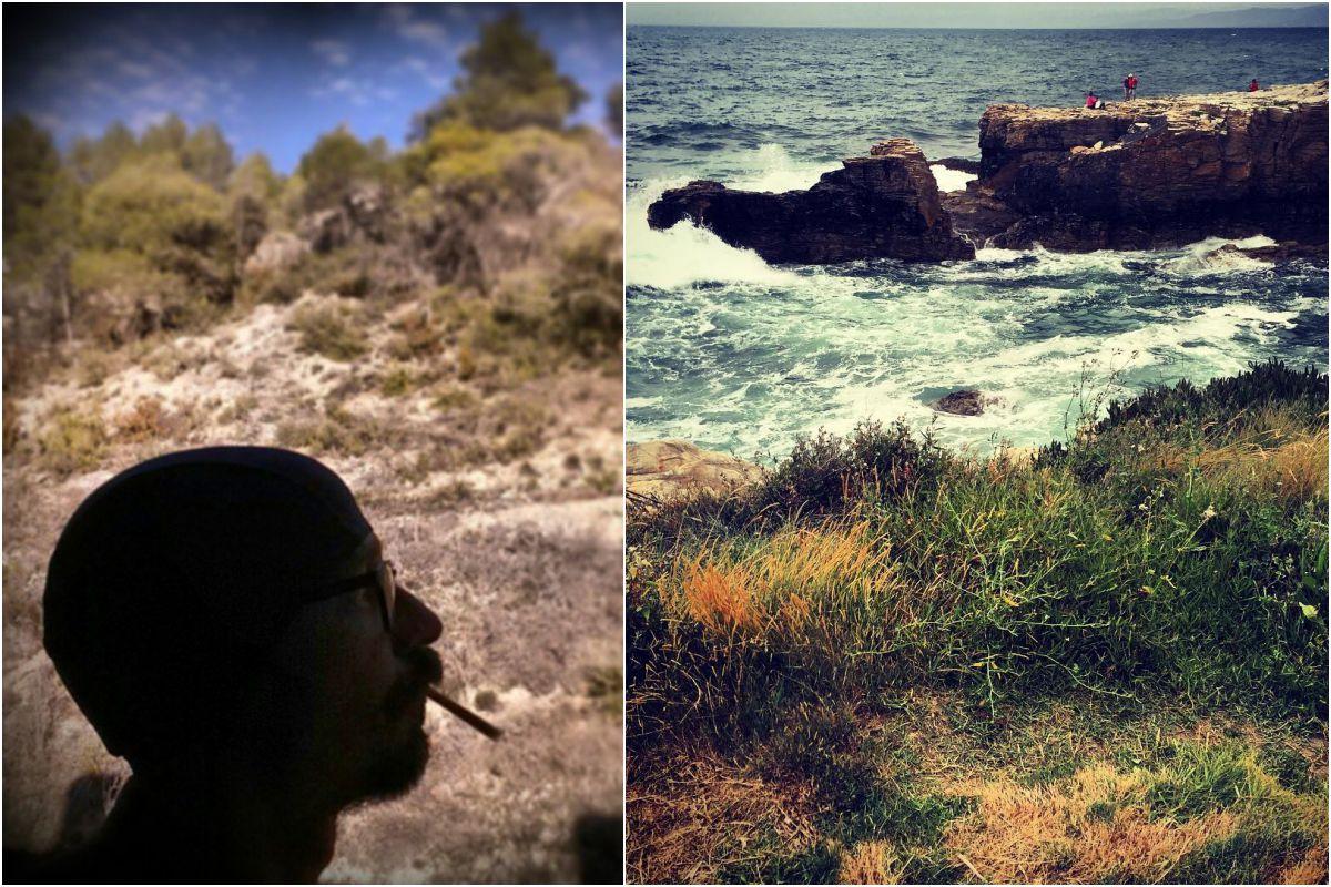 Un día de campo en el Balneario Carlos III, en Trillo (Guadalajara), y en la playa de Cangas de Foz, Lugo. Fotos: Instagram.