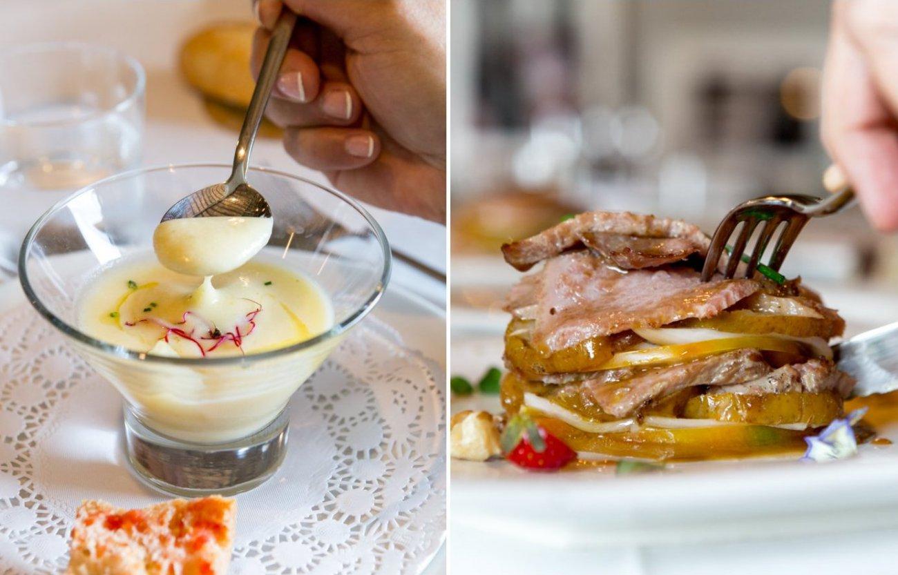 DOP Pera de Lleida: platos con pera de 'Molí de Duc'