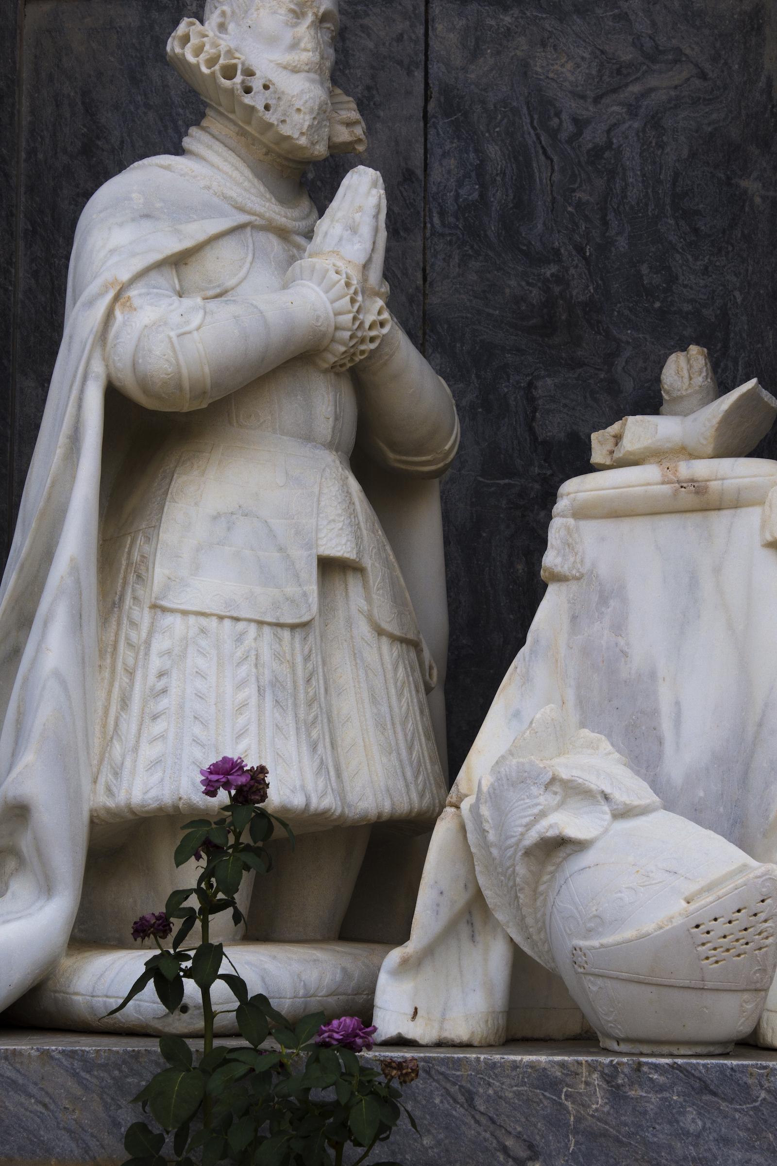 Estatua en Viso del Marqués. Foto: Manuel Ruiz Toribio.