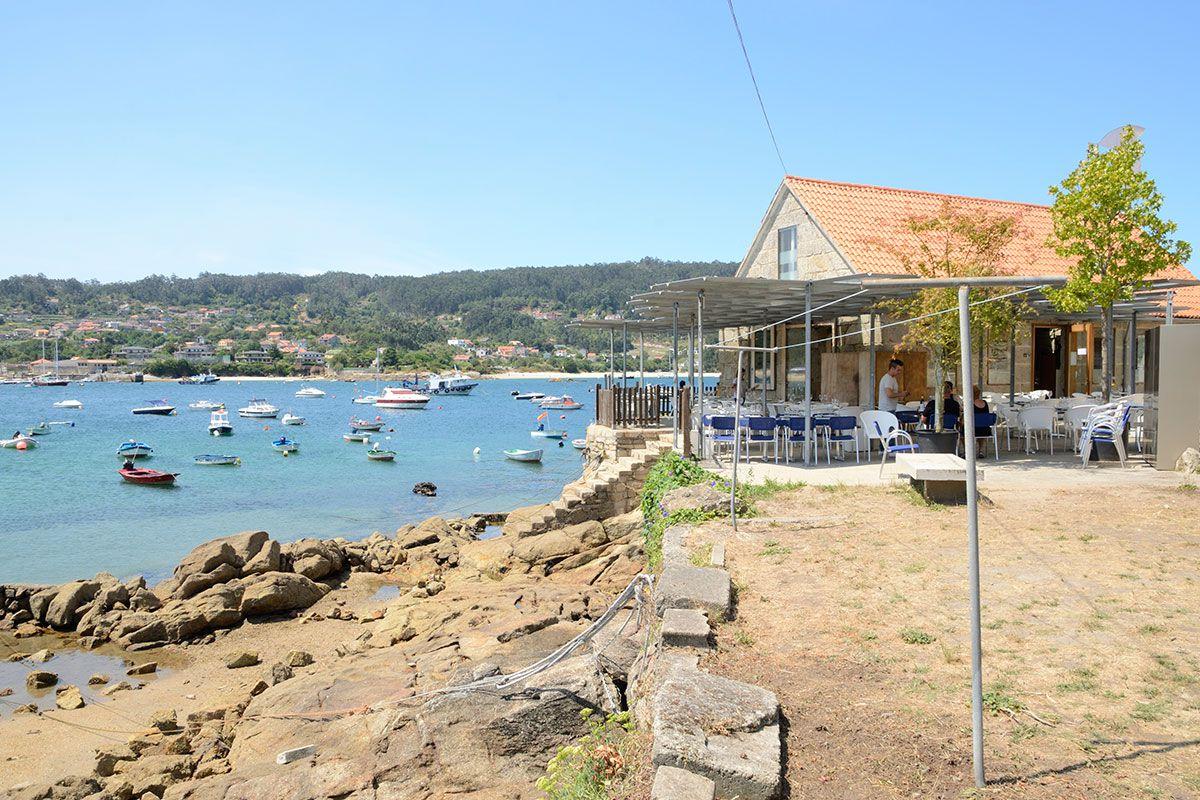 Rías Baixas: Restaurante en Aldán. Foto: Shutterstock