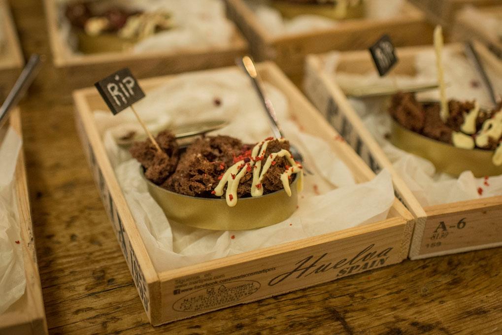 La dulce raspa de sardina de Irene Aguirre del Café Bernabeu.