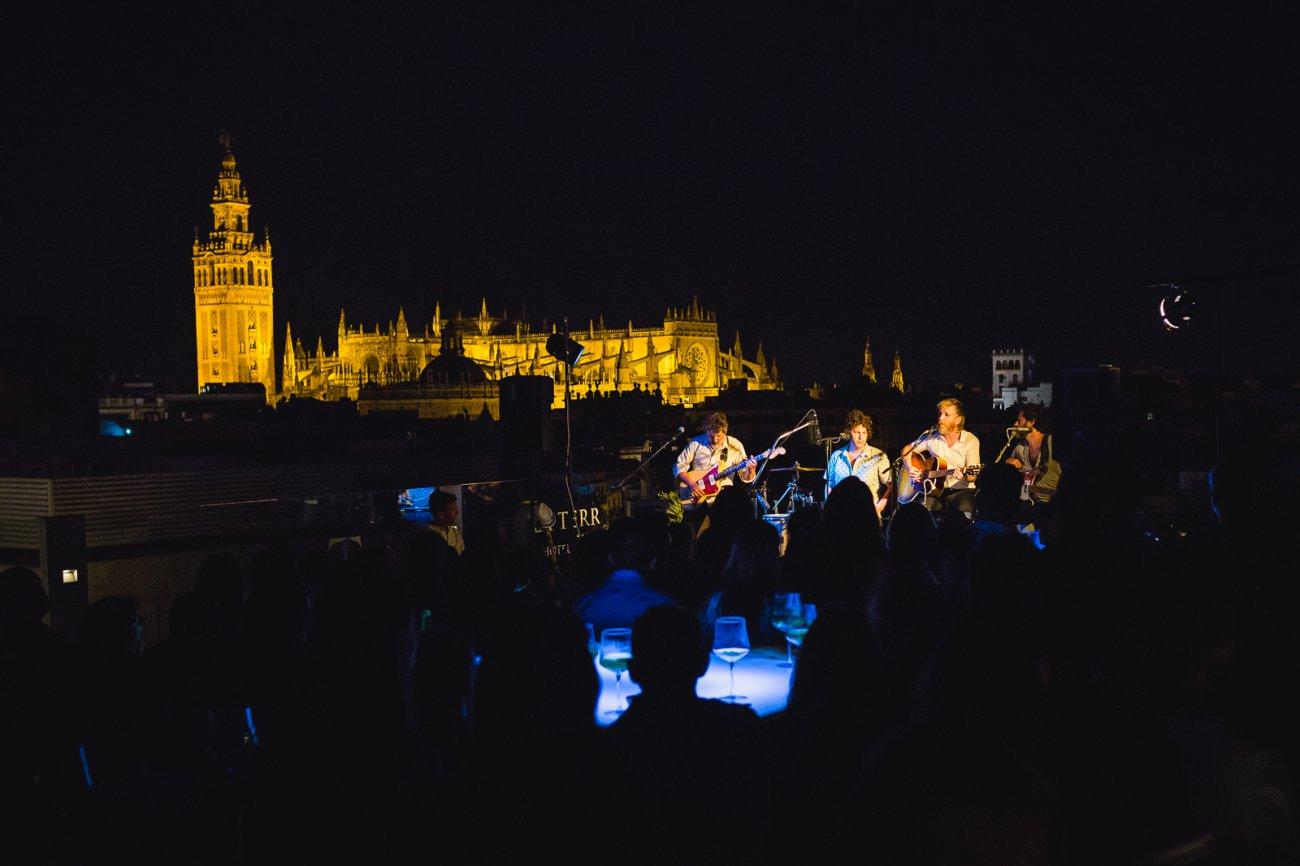Planes Sevilla: concierto en la terraza del 'Hotel Inglaterra'.