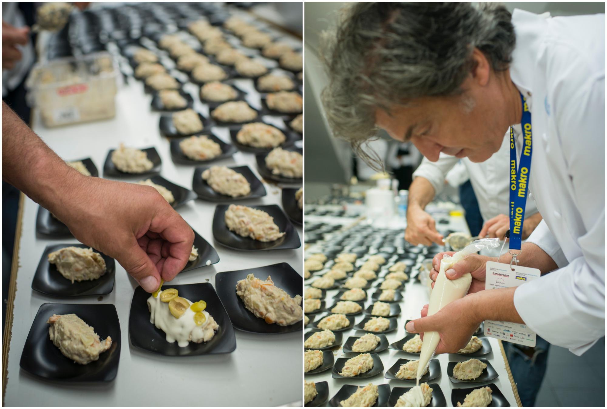 El secreto de Carles Abellán es hacer la mayonesa con el agua de aceitunas y el aceite del atún y las anchoas.