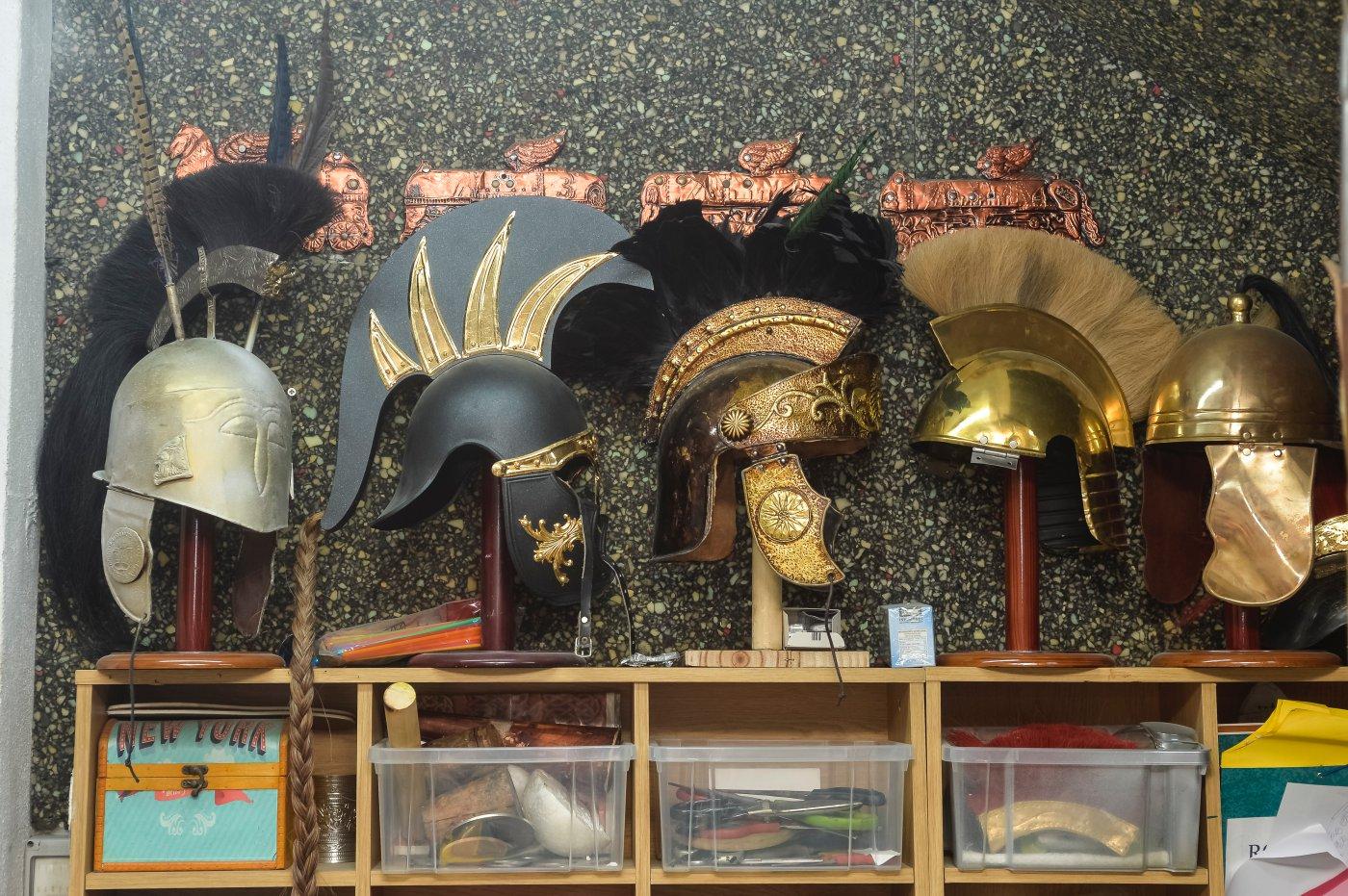 Carthagineses y romanos: taller de Javi en Los Nietos (cascos y yelmos)