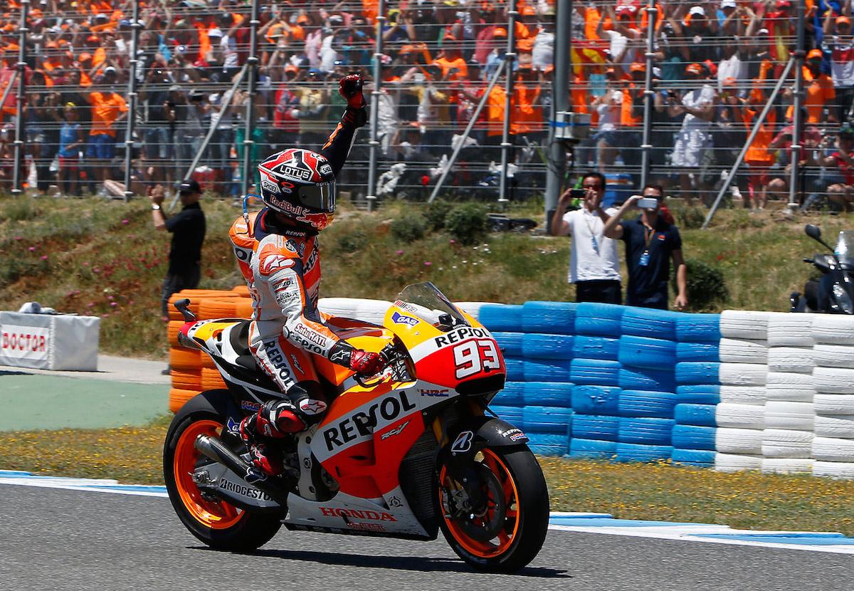 Marc Márquez en la pista.