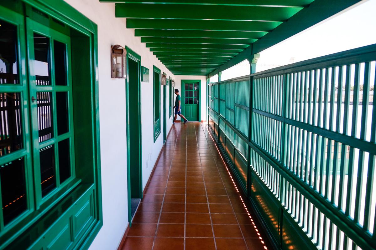 En la Casa-Museo del Campesino, el blanco y el verde son los colores característicos.