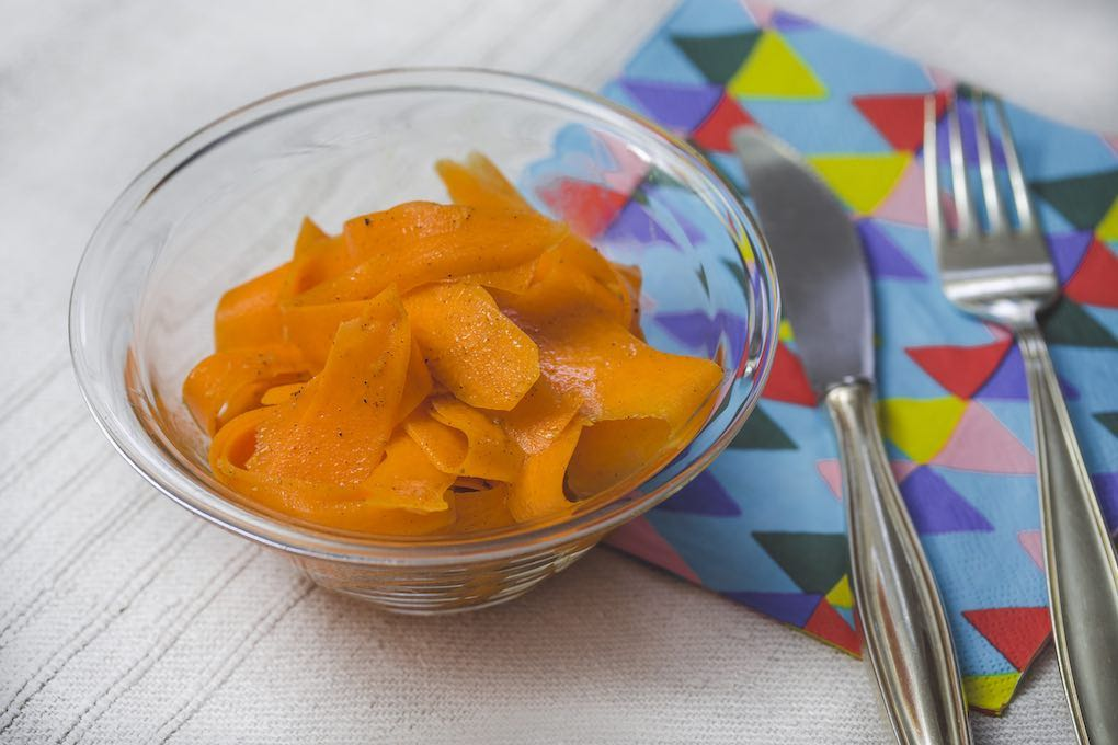 Ensalada de zanahoria con aceite de argana.