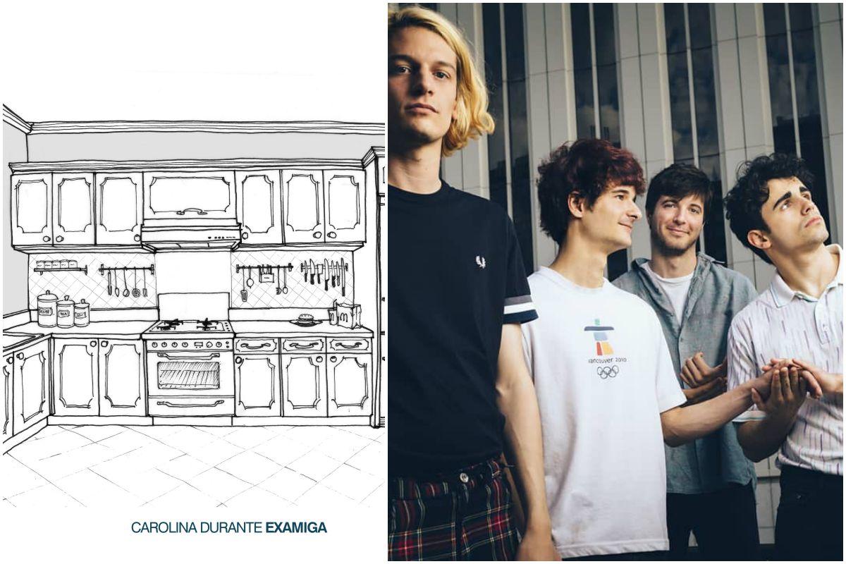 Portada del nuevo disco de Carolina Durante y una foto del grupo. Fotos: Facebook.