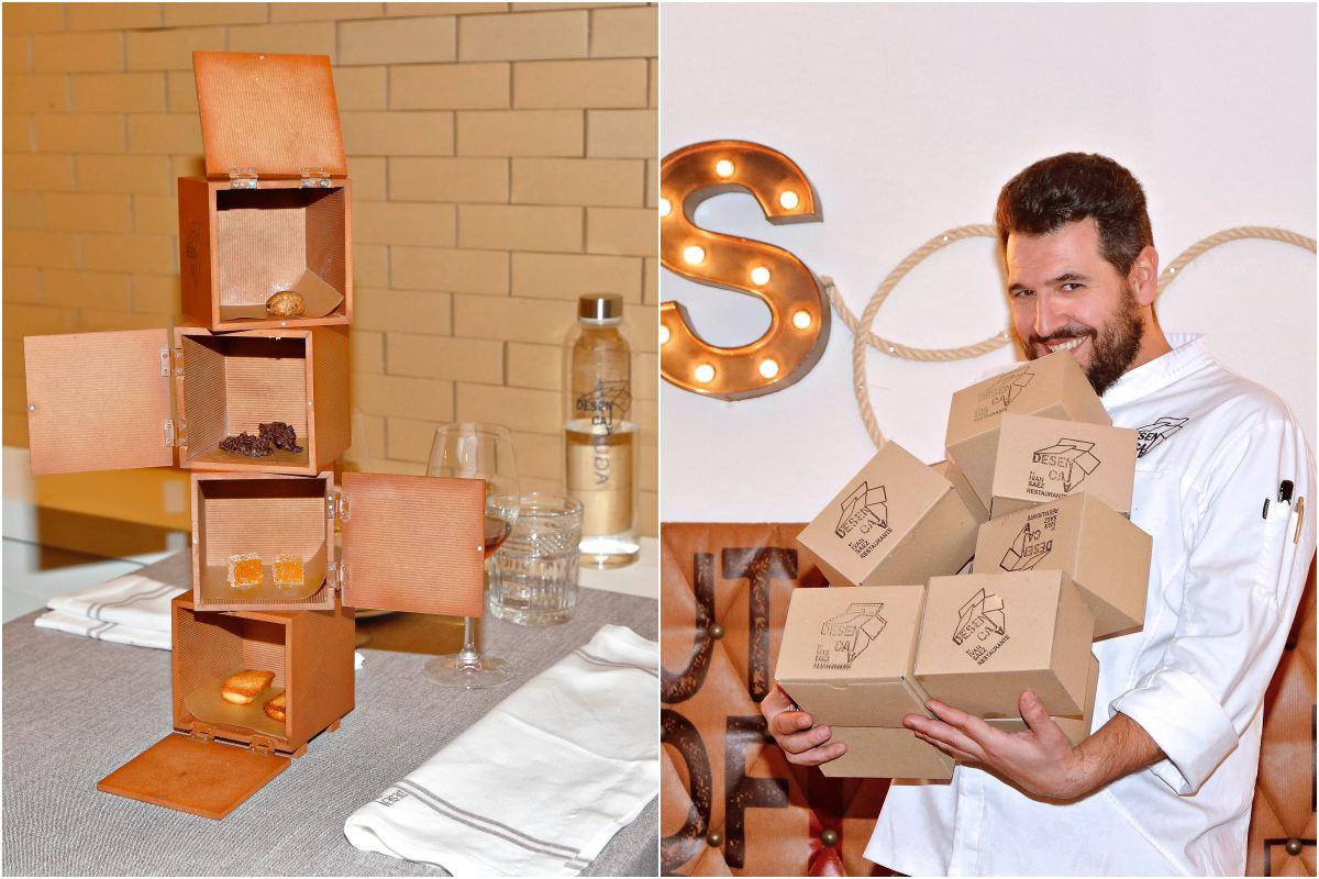 El interior de las cajas contiene toda la imaginación de Iván Sáez.