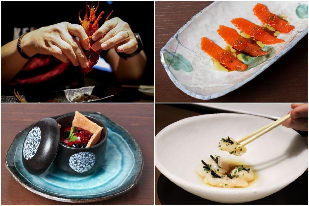 Festival de sabores con el carabinero, el salmón, la tarta de queso y la vieira.