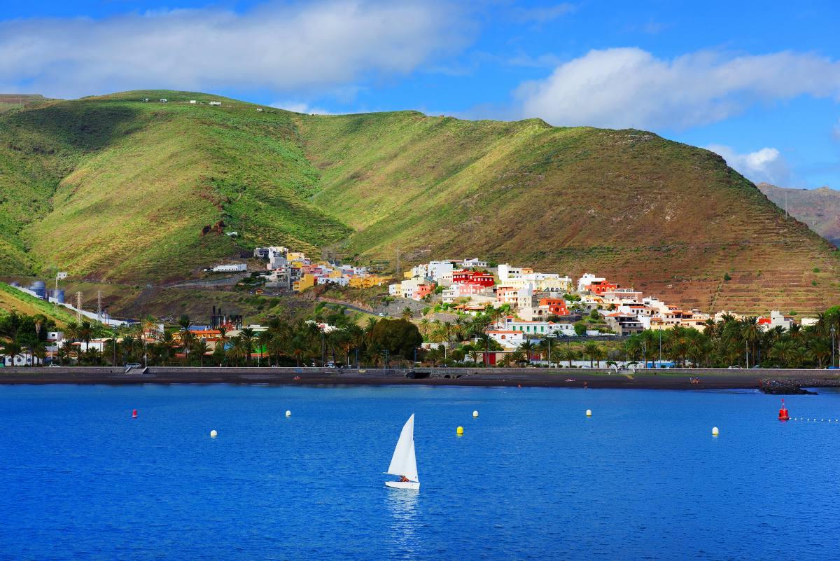 Vistas de San Sebastián de la Gomera