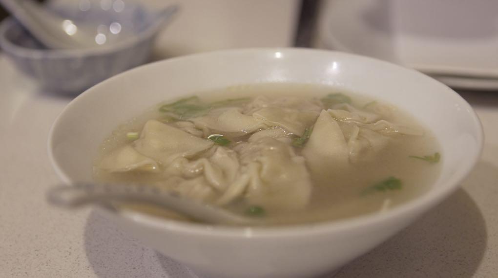 Sopa de wonton, un clásico de la gastronomía china.