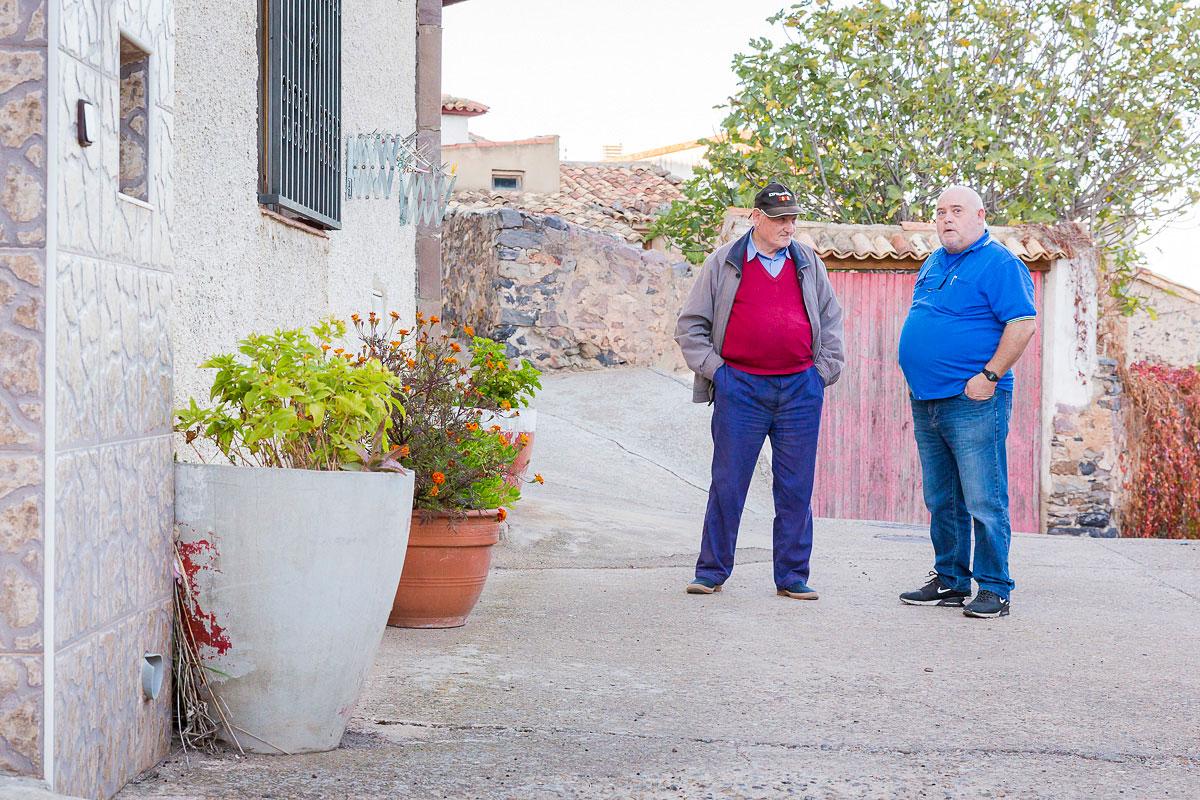 Trasmoz: Habitantes del pueblo. Foto: Ferrán Mallol