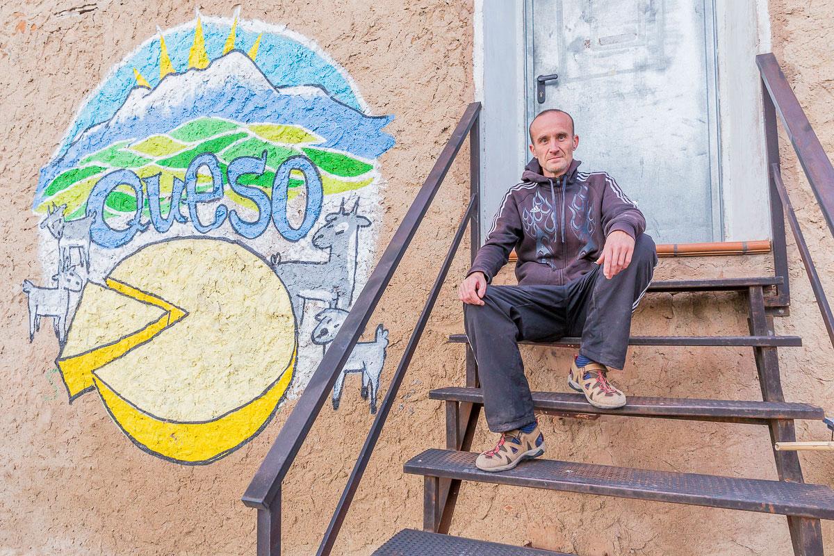 Trasmoz: Óscar, el quesero. Foto: Ferrán Mallol