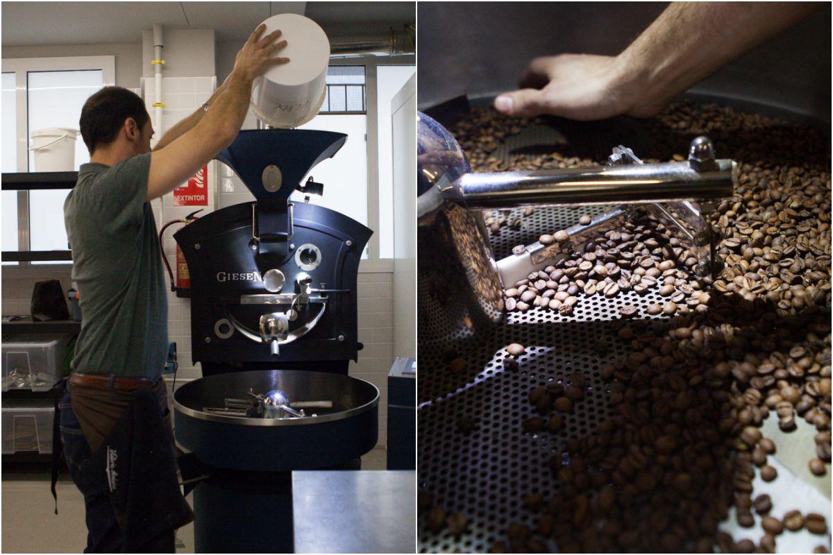 Aquí se tuesta el grano del café y se muele para que el cliente disponga del mejor producto.