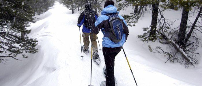 Grandvalira, paseo con raquetas de nieve.