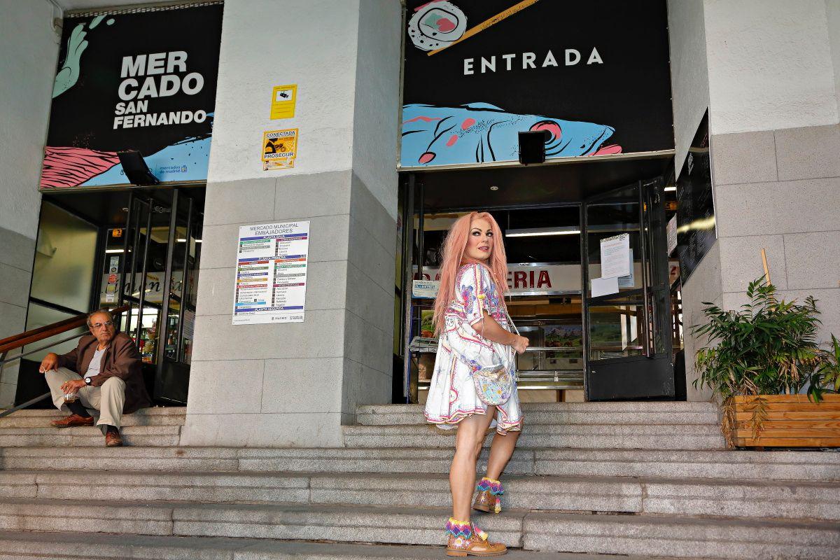 La Prohibida en el Mercado de San Fernando, en Lavapiés, Madrid.