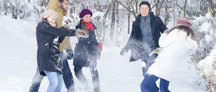 Guerra de bolas de nieve.