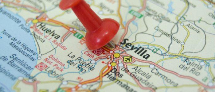 Mapa de Sevilla.