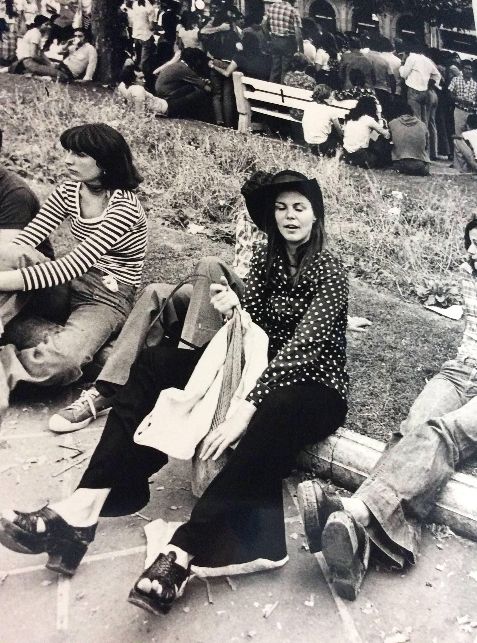 Hippies en San Fermín. Foto: José Luis Nobel Goñi. Ayuntamiento de Pamplona.